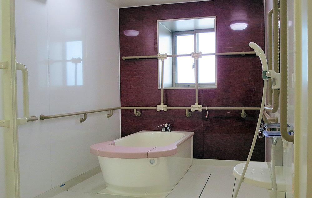 安心の入浴設備